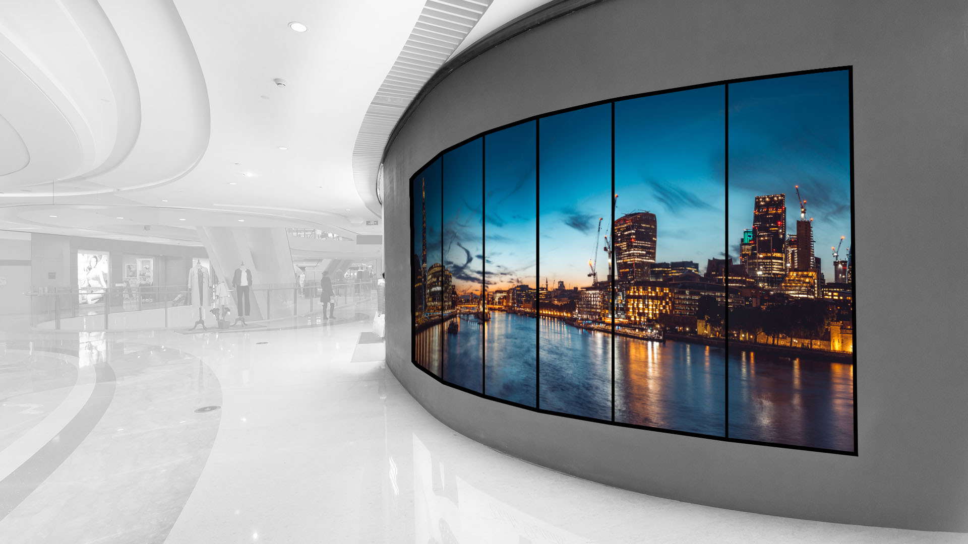 Digital Signage Panoramawall